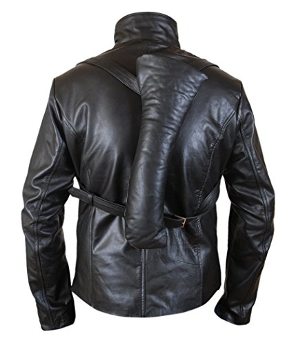Hector Escaton Leather amp;H Jacket Santoro Westworld F Black Rodrigo Men's Genuine q8tnnE