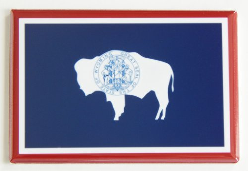 Wyoming State Flag Fridge Magnet (2 x 3 inches) (Wyoming Flag State)