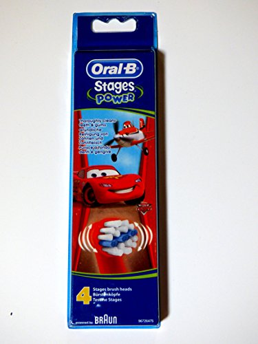 Oral-b Stages Power Cars – Replacement Brush Heads (1 Pack = 4 Pieces) Disney for Kids! Review