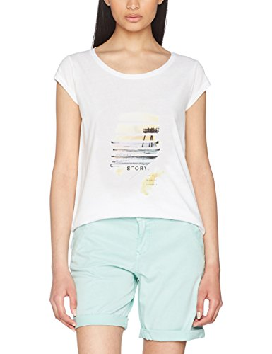 s.Oliver, Camiseta para Mujer white placed print 01D2