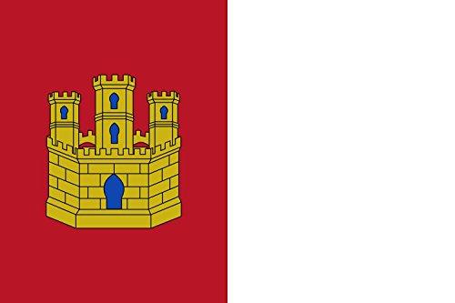 DIPLOMAT-FLAGS Castilla-LaMancha Bandera | bandera paisaje | 0.06m² | 20x30cm Banderas de Coche
