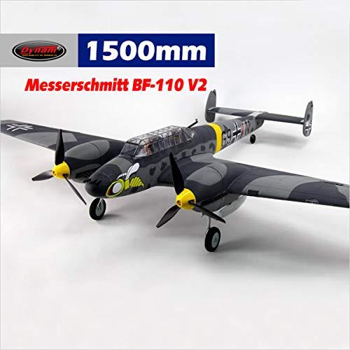 Twin Engine Rc Airplane - DYNAM RC Airplane BF-110 1500mm Wingspan - SRTF
