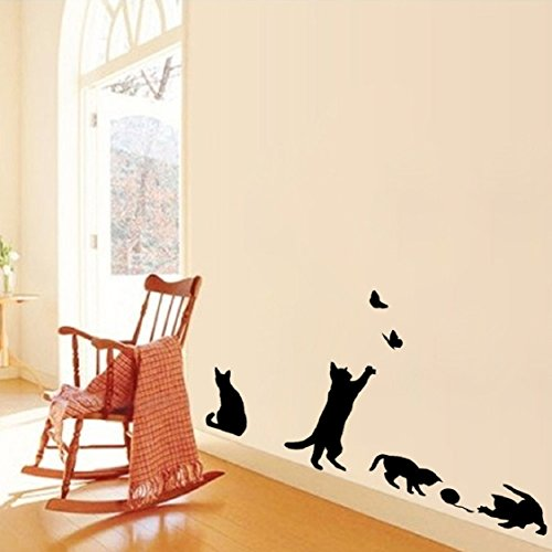 Christmas Wall Sticker Ikevan Cats Butterfly Wall Stickers
