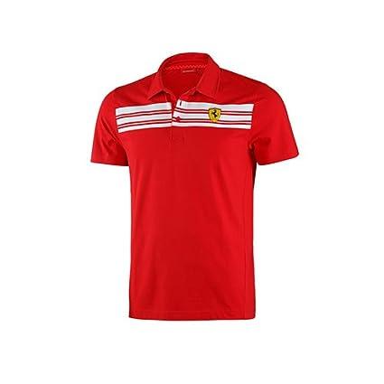 Ferrari 5100104-600-230 - Polo a rayas, color rojo, talla L ...