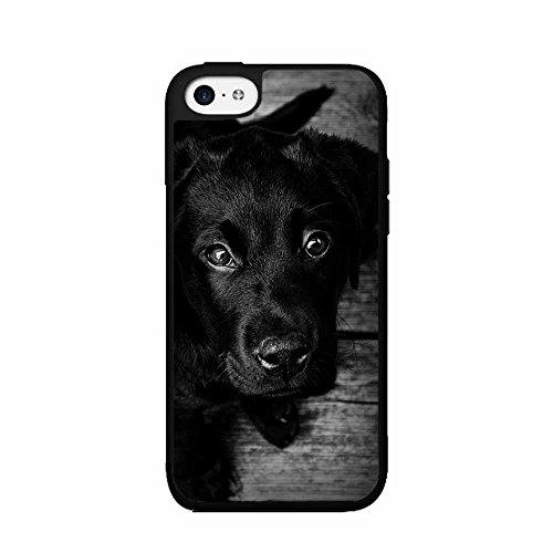 BleuReign Black and White Photo of Labrador Plastic Phone Ca