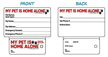 Amazon emergency info my pet is home alone key tag wallet emergency info my pet is home alone key tag wallet card ccuart Gallery