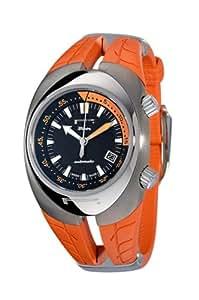 Pzero Pirelli - Reloj analógico de cuarzo para hombre con correa de caucho, color naranja