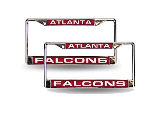 Rico Atlanta Falcons NFL Chrome Metal (2) Laser Cut License Plate Frame - Falcons Laser License Atlanta Plate