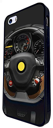 1184 - Funky Dashboard Speed Meter Cars Men Fun Design iphone SE - 2016 Coque Fashion Trend Case Coque Protection Cover plastique et métal - Noir
