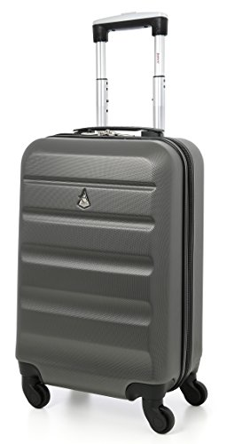 """Aerolite 22x14x9"""" American, United & Delta Airlines MAX ABS Hardshell Luggage Suitcase Spinner Carry On"""
