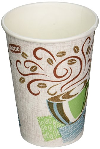 Dixie Perfect Touch Hot Cup (Perfect Touch Hot Cup, Wise Size,12 oz, 25/PK, Multi, Sold as 1 Package)