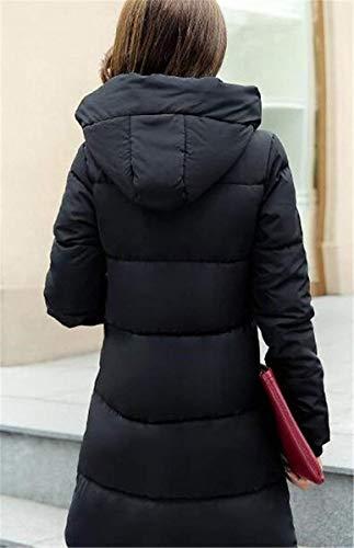 Veste Hiver Poches Doudoune Femme Blouson lgant Unicolore Automne clair Casual Longues Outerwear Manteau Confortables Schwarz A Longues Capuche Manches Quilting breal Fashion Fermeture avec CqwCpvP