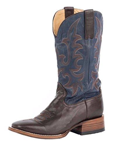 Stetson Mens Austin Western Boot Marrone