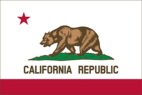 California CA Republic State Flag Auto Decal Bumper Sticker Car Truck Boat RV - Sticker Flag California
