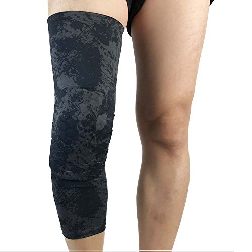 DIBIO Knee Pads/Padded Leg Sleeves and Compression Basketball - Sports Footless Calf Compression Socks Knee Brace Support Helps Shin Splints, Arthritis, Blood Circulation (1 PC)