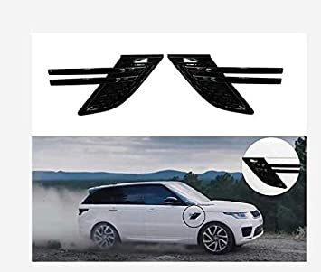 2Pcs Side Vent Grille Mesh Grill Fits for Land Rover Range Rover 2013-2017