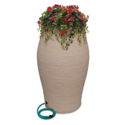 Urn Rain (Emsco 2263-1 60 Gal. WaterUrn Decorative Urn Rain Barrel Kit with Integrated Planter - Sandstone by Emsco)