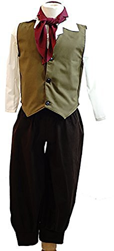 Sound Of Music Dance Costumes (World Book Day-Oliver-Victorian-Sound of Music-Von Trapp DICKENS-EDWARDIAN BOY (OLIVE GREEN) Child's Costume - All Ages (AGE 11-13))