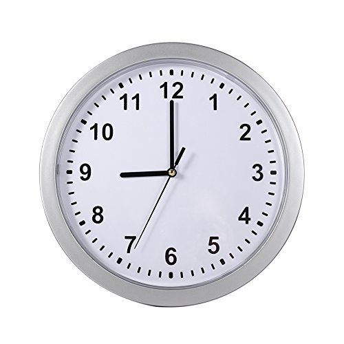 2 in 1 Wall Clock Safe Box, Silver Round Clock + Hidden Secret Container, Wall Clocks Battery Operated Non Ticking, Wall Clock Safety Storage for Money Stash Jewelry Valuables Cash