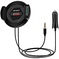 Wireless Bluetooth FM Transmitter, Sorenda Bluetooth 4.1 Car Kit with Phone Holder, Hands Free Calling, Car Radio Adapter, Audio Receiver Stereo, Car Mount USB Car Charger