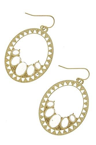 Mini Glass Square Earrings - 3