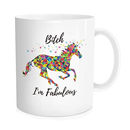 Hasdon-Hill Funny Unicorn Mug, Bitch I