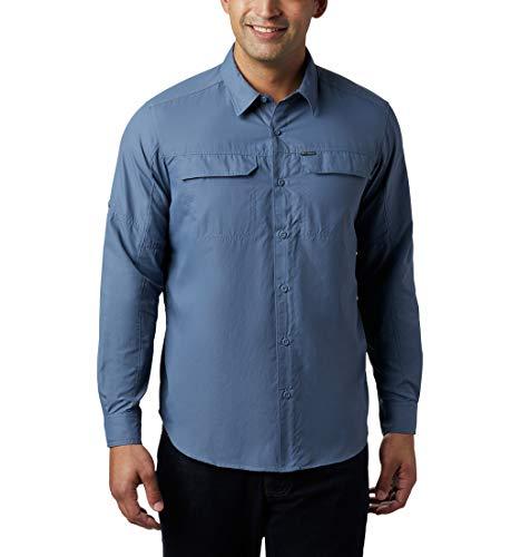 Columbia Silver Ridge 2.0 Camisa de Manga Larga, Hombre, Azul (Mountain), XL