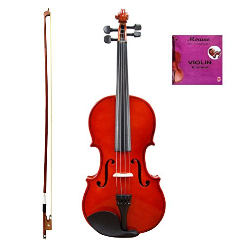 Merano MV10 4/4 (Full) Size Acoustic Student Violin with Hard Case and Bow+Free Rosin+Extra E String by Merano