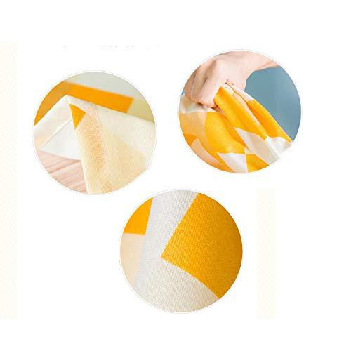SLIANG Mantel Pequeño Minghuang Tela a Cuadros Algodón y Lino Pequeño Mantel Mantel Fresco Impermeable y Resistente al Aceite Comida Anti-Caliente Mantel Simple (Tamaño : 130  180cm) 2da220