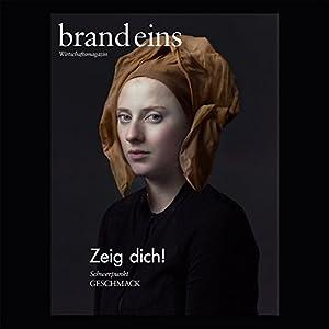 brand eins audio: Geschmack Audiomagazin