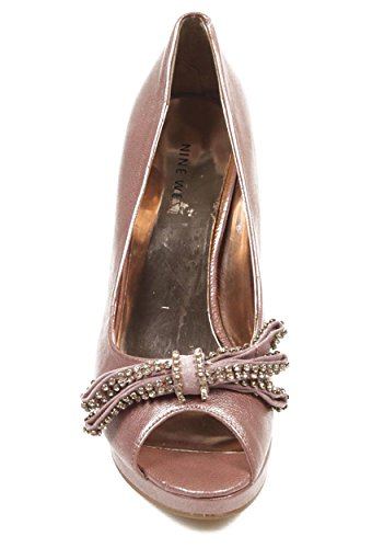 NINE WEST - Damen-Pump Offener Zeh NWTHISTLE PINK Hacke: 10.5 cm