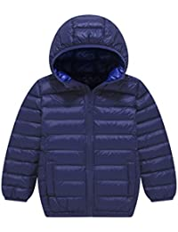 Boy's and Girl's Lightweight Packable Down Jacket Outwear Hooded Windproof Puffer Down Coats