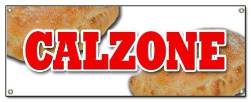 CALZONE Banner Sign Pizza Italian Restaurant Italy Food Spaghetti Fresh Baked