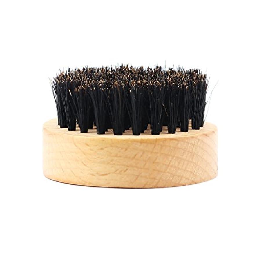 警察辞任する定数Homyl 髭ブラシ 男性 ひげ剃り 天然木ハンドル ひげそり グルーミング 2タイプ選べる - #2