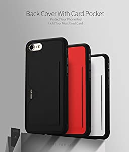 iPhone 8 / iPhone 7 Case, DUX DUCIS Ultra Slim Card Pocket Back Cover Advanced Slip Resistant / Shock Resistant Protective Leather Case with 1 Card Slots Holder for iPhone 8 / iPhone 7