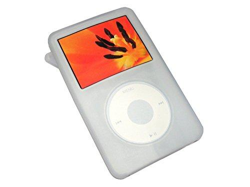 igadgitz Silikon Hülle Etui Case Schutzhülle Tasche in Klar für Apple iPod Classic 80gb, 120gb & 160gb (Ausgabe September 2009) + Display Schutzfolie + Trageschlaufe