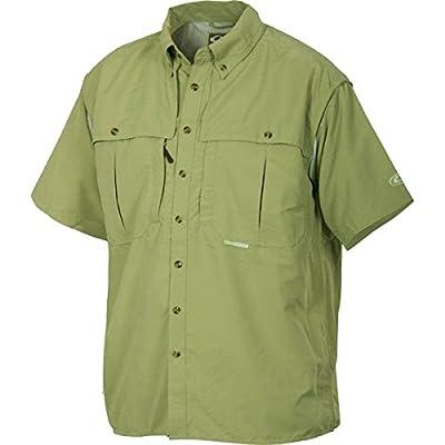 Drake Short Sleeve Vented Wingshooters Casual Shirt (Sea Green) (Men's Large)