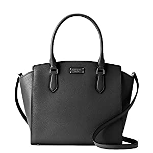 Kate Spade Jeanne Medium Leather Women's Satchel Handbag WKRU6042 (Black)