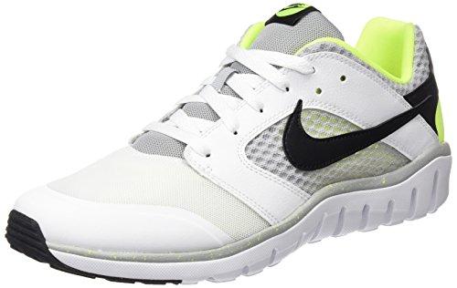 Nike Flex Raid - Zapatillas unisex, color negro / blanco / gris / amarillo