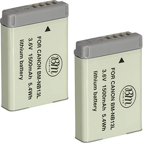 BM Premium 2-Pack of NB-13L Batteries for Canon PowerShot SX740 HS, G1 X Mark III, G5 X, G7 X, G7 X Mark II, G9 X, G9 X Mark II, SX620 HS, SX720 HS Digital Cameras -  BM-NB13LK2