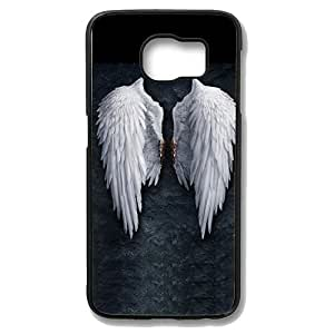 Samsung Galaxy S6 Edge Case - Angel Wings Slim Bumper Case with Soft Flexible TPU Material for Samsung Galaxy S6 Edge Black
