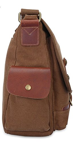 Crossbody Retro Diagonal Men Bag Satchel Bangalor Shoulder Casual Canvas Korean Coffee Otomoll Business ZXw8PdxzqZ