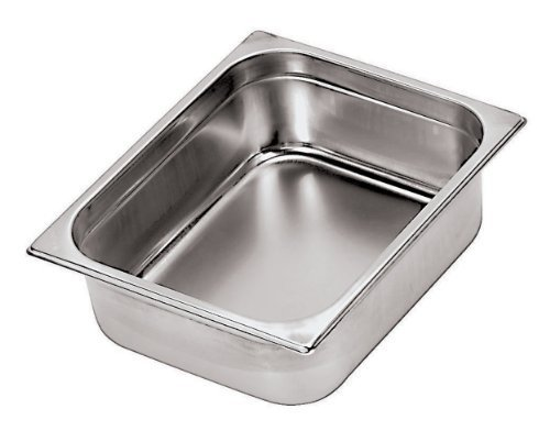 Paderno World Cuisine 14 inches by 12 1/2 inches Stainless-steel Hotel Pan - 2/3 (depth: 4 inches) by Paderno World Cuisine