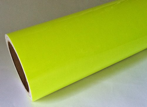 Fluorescent Signs (Fluorescent Yellow Neon Sign Vinyl, Self-adhesive, 24