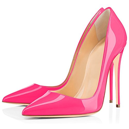 Evening Leopard Slip Party Stiletto Shoes Heels Women's On Toe Heels Kmeioo Sexy Leopard Printed Pumps Pointy Rose High ZqgRxaPn
