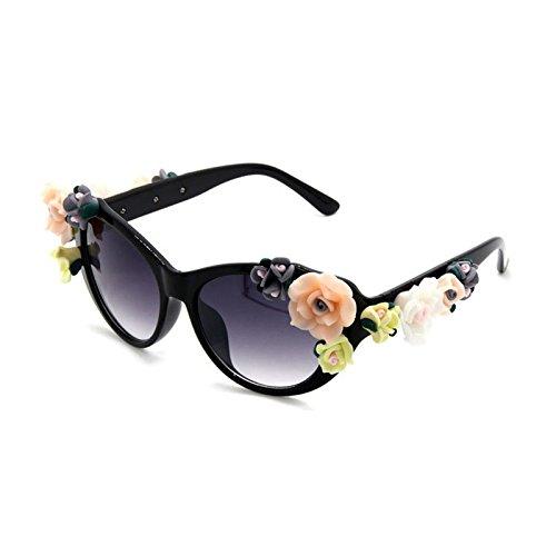 Marca Sol Retro la Joyas de en Gafas Sol ZHANGYUSEN 1 Flower 2 Sexy Playa Verano de de Gafas Gafas BqgwAnYxRt