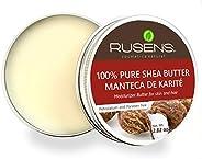 Rusens - Manteca de Karité 100% Pura Orgánica. Excelente Regenerante Natural, Extra humectante.