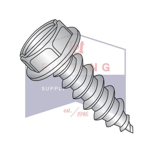 Slotted Indented Hex Washer Sheet Metal Screw Stainless #6X3//4/'/' Qty 250