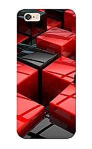 High Quality CQAcKTE235EeAXU Red And Black Cubes Tpu Case For Iphone 6 Plus by icecream design