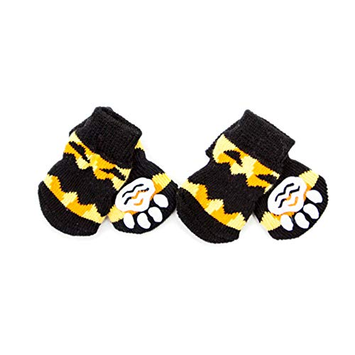 TizzyPet Novelty Dog Pumpkin Socks Anti-Slip Socks Paw